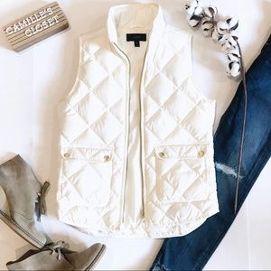 J. Crew Excursion Quilted Down Vest